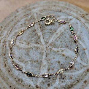 Jewelry - Vintage Gemstone 14K Bracelet